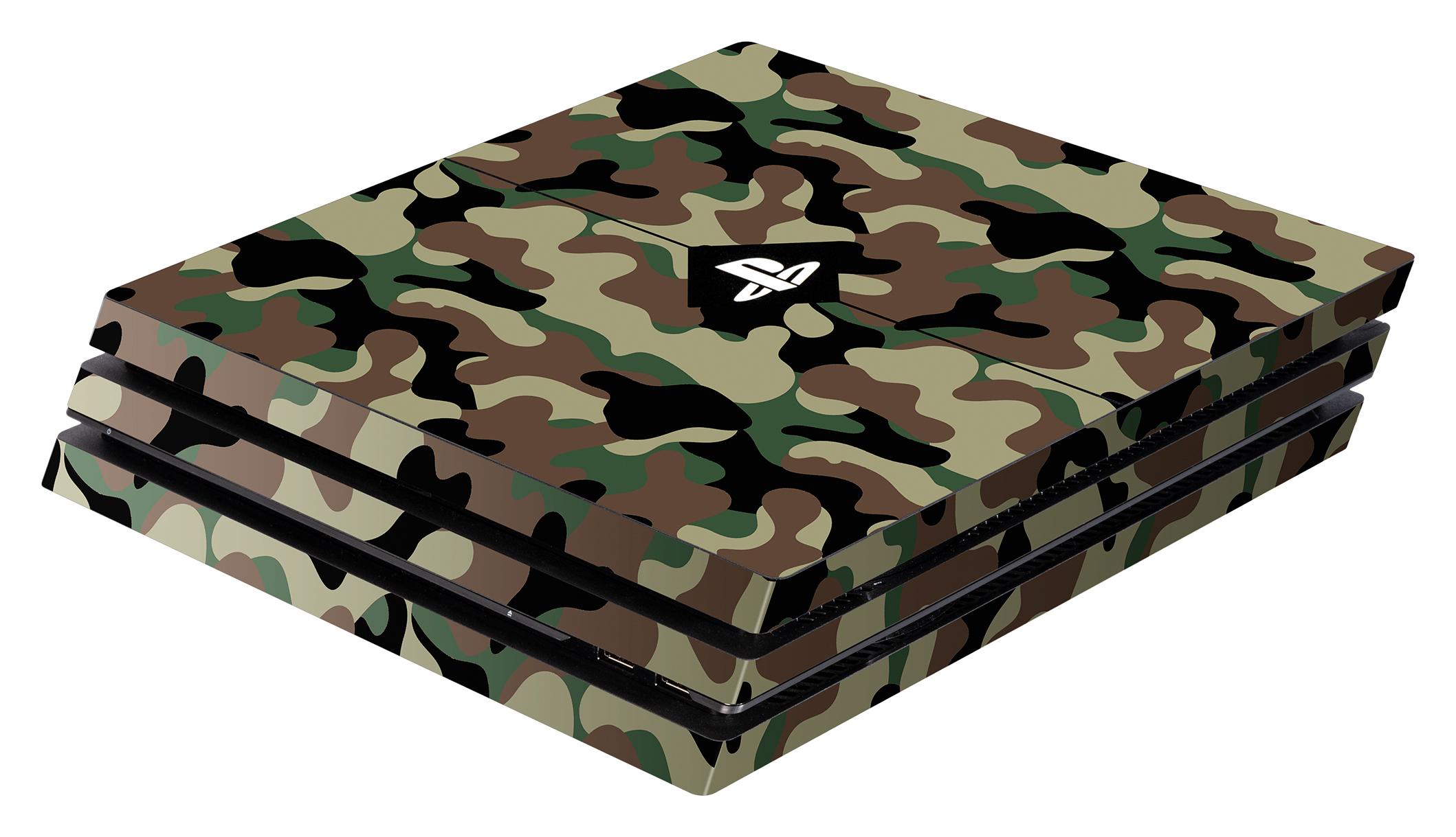Skins - Sticker für PlayStation 4 Pro Konsole (Camo Green)