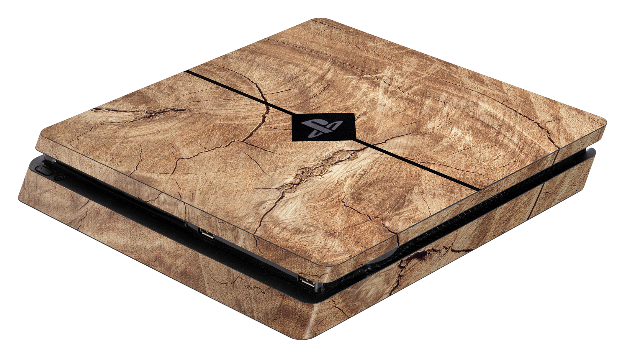Skins - Sticker für PlayStation 4 Slim Konsole (Wood)